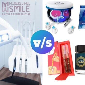 teeth whitening kits vs in-office teeth whitening treatments
