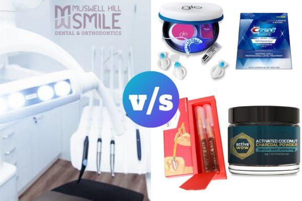 teeth whitening kits vs in-office teeth whitening treatments